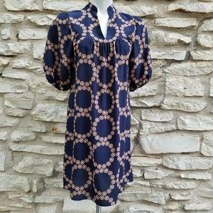 4/$20 Banana Republic 100% Silk Circle Print Dress